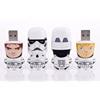 Mimobot 8GB Stormtrooper Unmasked USB Flashdrive (Set of 2: (1) Han Solo and (1) Luke Skywalker)