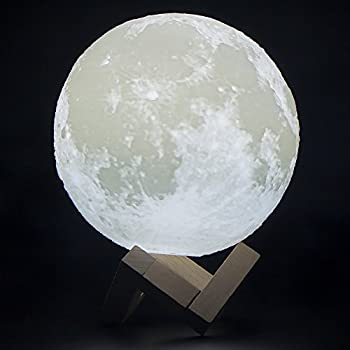 Siminda Modern 7 1 Inches 3D Printing LED Big Moon Light Touch Control  Color Changing Luna Moon Light Night Lamp for Bedroom. Amazon com  3D Printing Moon Lamp Light 2 Colors Change Charging
