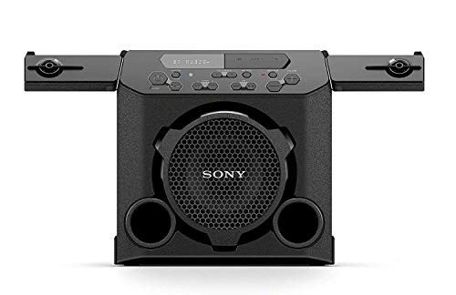 Sony GTK-PG10 Portable Bluetooth Speaker: Wireless Indoor / Outdoor Bluetooth Speakers - Compact Party Stereo System with Cup Holders - Travel Speaker with FM Radio Tuner, Microphone Jack, USB Port ()