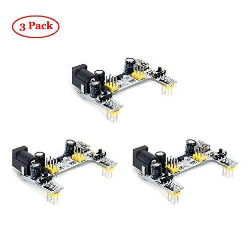 Oak-Pine 3pcs DC 5V/3.3V 2 Channel Breadboard Power Module Arduino - Oak Breadboard