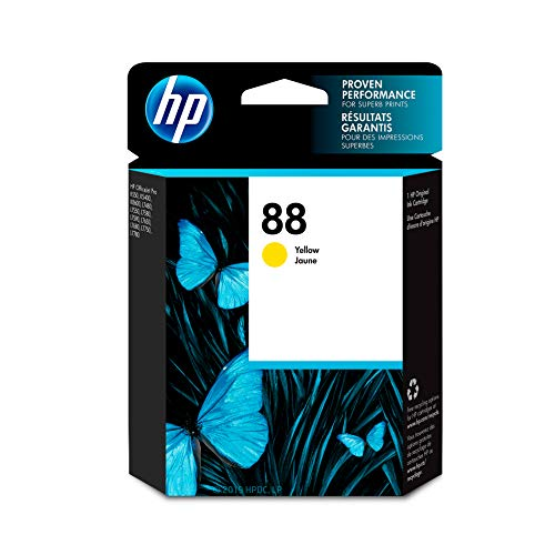 HP 88 Yellow Ink Cartridge (C9388AN) for HP Officejet Pro K5400 K550 K8600 L7580 L7590 L7680 L7780 DISCONTINUED BY MANUFACTURER