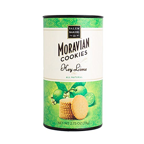 Salem Baking Company Moravian Key Lime Moravian Cookie, 2.75-Ounce Tubes (Pack of 4)