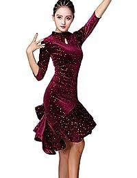 Latin Dance Dress Velvet Dress Ballroom Skirt Waltz Skirt Rumba Dress Cha Cha Dress