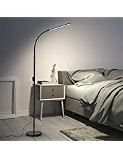 Upgrade LED Floor Lamp, Standing Lamp 3 Colors & 10 Brightness Levels, Flexible Gooseneck Switch Control Reading Lamp for Living Room, Study Room, Bedroom, Home, Office, Dorm .Black