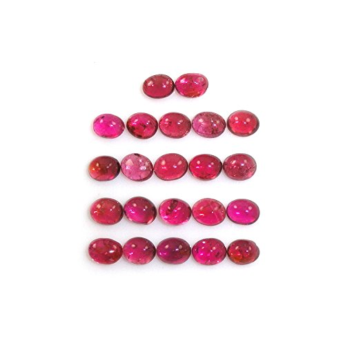 Pink Tourmaline Cabs Oval 5x4mm Approximately 8.00 Carat (11268)