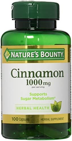 Nature s Bounty Cinnamon 1000 mg Capsules 100 ea Pack of 2