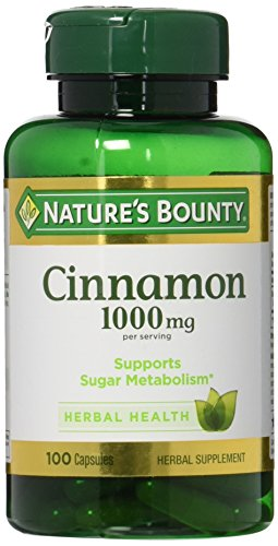 Nature's Bounty Cinnamon 1000 mg Capsules 100 ea (Pack of 2)