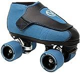 VNLA Code Blue Jam Skate - Mens & Womens Speed Skates - Quad Skates for Women & Men - Adjustable Roller Skate/Rollerskates - Outdoor & Indoor Adult Quad Skate - Kid/Kids Roller Skates (Size 12)