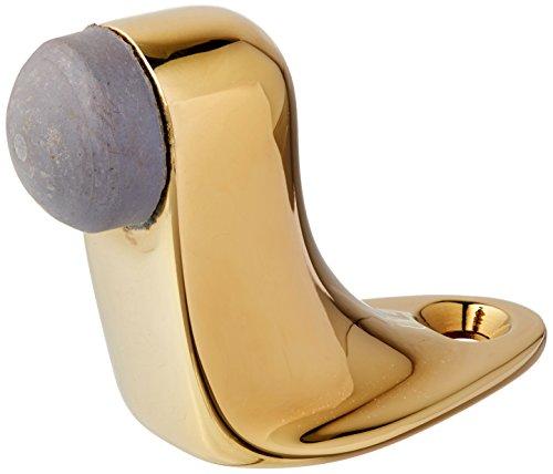 Baldwin 4510 2 Inch Solid Brass Floor Mounted Door Stop, Lifetime Polished Brass Brass Floor Door Stop