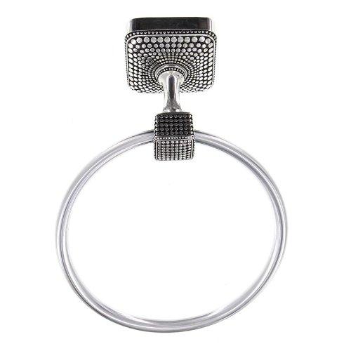 Vicenza Designs TR9005 Tiziano Towel Ring Antique Silver