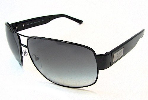 3f5defe8e6b1 PRADA SPR 61L Sunglasses SPR61L 7AX-3M1 Black Shades  Amazon.co.uk  Clothing