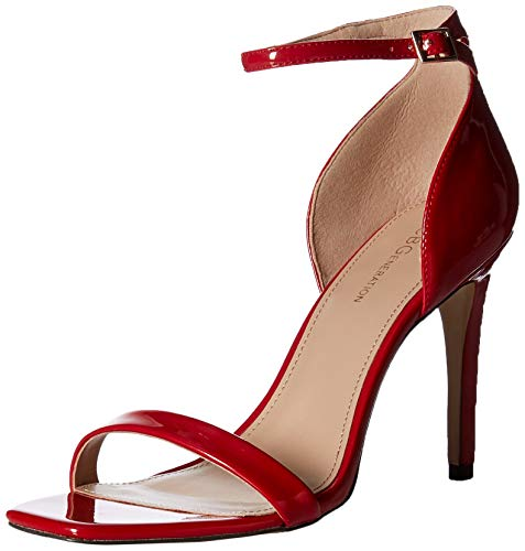 BCBGeneration Women's Irina Heeled Sandal, red Patent, 9 M US