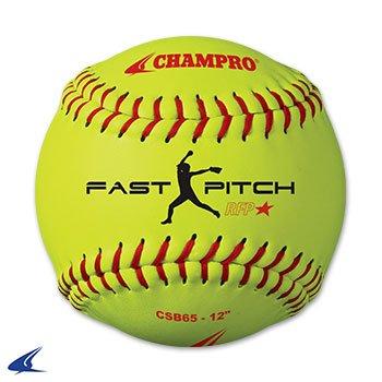 Champro Practice Softball, Optic Yellow, 11'' by CHAMPRO