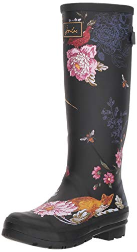 Rain Black Joules Boot Welly Woodland Floral Women's Print twgg17qv