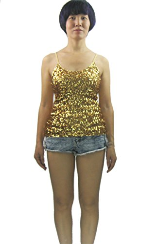Whitewed Sparkly Sequin Sequence Dance Tops for Tin Women Girls Holidays -