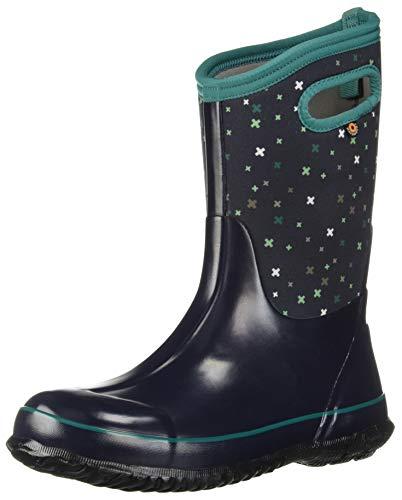 Bogs Classic High Waterproof Insulated Rubber Neoprene Rain Boot Snow, Plus Dark Blue/Multi, 3 M US Little Kid ()