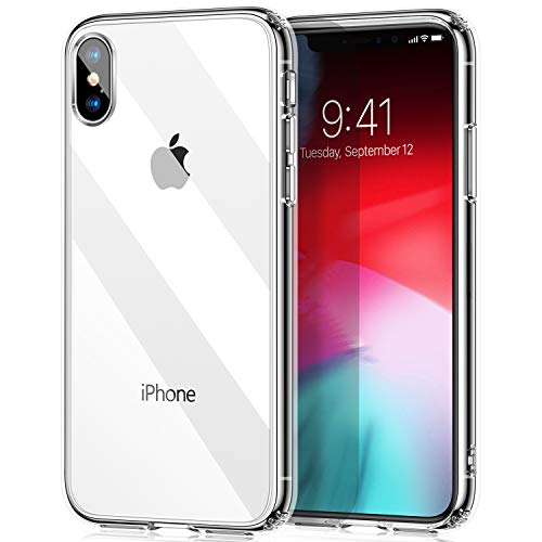 TORRAS Ultra Clear iPhone Xs Case/iPhone X case, Thin Slim Hybrid Case Hard PC with Soft Bumper Protective Phone Cover Case for iPhone X/iPhone Xs- Transparent