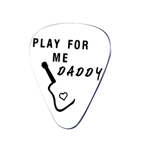 Udobuy Play for Me Daddy Guitar Pick,Dad Guitar Pick Father Gift Guitar Pick,Father's Day Birthday Christmas Gift,Gift for Dad (Dad Present Birthday)