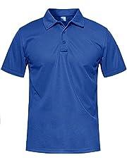 MAGCOMSEN Poloshirt voor heren, korte mouwen en lange mouwen, outdoor, golf, casual, vrije tijd, sneldrogend, tactisch poloshirt, sportshirt, regular fit, met knoopsluiting.