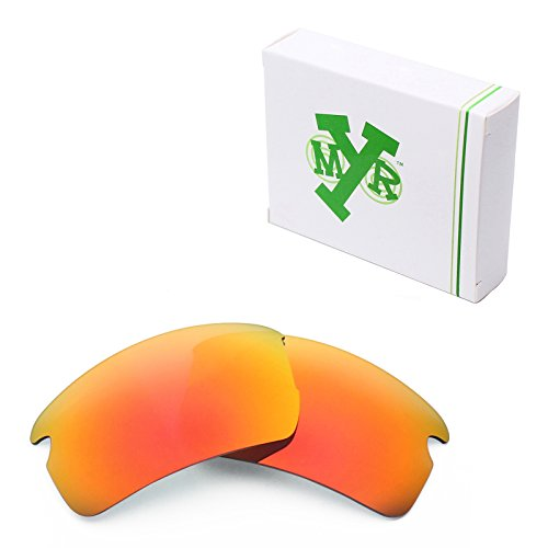Mryok Polarized Replacement Lenses for Oakley Flak 2.0 Asian Fit - Fire - Oakley Asian Lenses Fit Flak 2.0