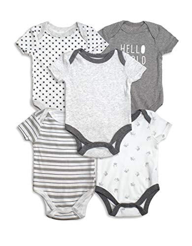 Lily and Page Gender Neutral Baby Clothes,5 Pack Boy Girl Unisex Onesies Newborn Infant Onsies (Baby Gender Chart)