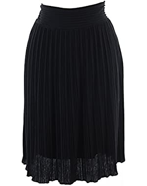 Calvin Klein Women's Side Zipper Pleated Skirt