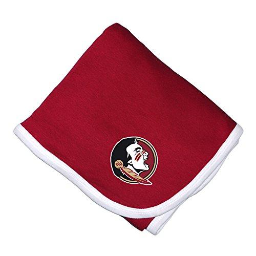 Florida State Seminoles Soft Blanket (NCAA Florida State Seminoles Infant Blanket, One Size, Crimson/White)