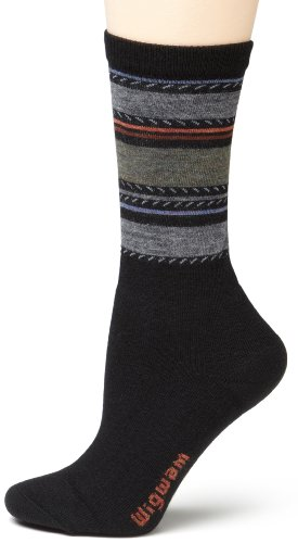 Wigwam Women's Santa Fe Fusion Boot Sock,Black,Medium (Wigwam Everyday Fusion)