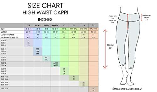 42ccf129138fbe Yogalicious High Waist Ultra Soft Lightweight Capris - High Rise Yoga Pants  - Shadow Petal -