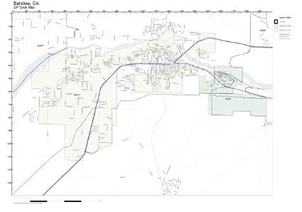 Amazon.com: ZIP Code Wall Map of Barstow, CA ZIP Code Map Not