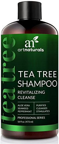 ArtNaturals Tea Tree Shampoo - (16 Fl Oz / 473ml) - Sulfate Free – Made with 100% Pure Therapeutic Grade Tea Tree Essential Oil.
