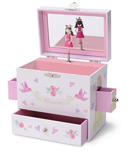 JewelKeeper Musical Jewelry Box 3 Drawers, Fairy Princess Unicorn Design, Dance The Sugar Plum Fairy Tune ()