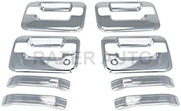 4 Doors EZ MOTORING Chrome Door Handle /& Tailgate Covers with keypad /& w//o psg keyhole for 2004-2014 Ford F-150 F150