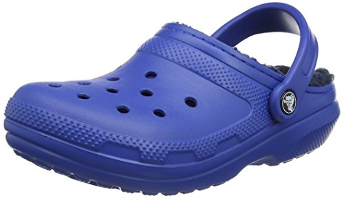 Crocs Unisex Classic Lined Clog,Blue Jean/Navy,11 US Men/13 US (Blue Womens Clogs)