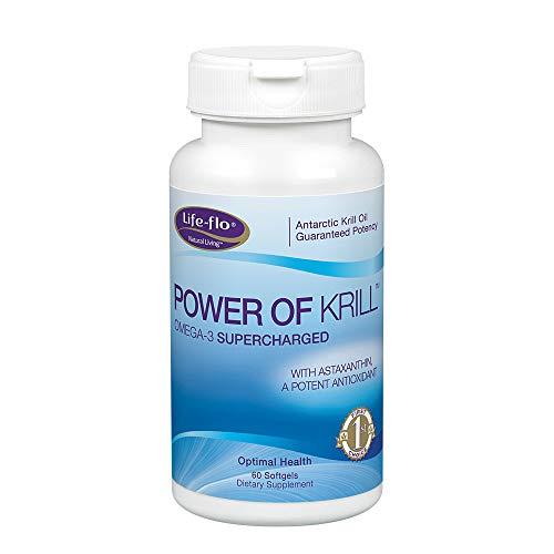 Life-flo Power of Krill | Antarctic Krill Oil w/Omega-3s & Astaxanthin | Immune, Heart & Joint Formula | 60ct, 30 Serv.