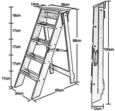 Escaleras Escalerillas Escaleras de Tijera de Madera Escaleras de peldaño Plegables de 5 Pasos, de Color Blanco Ligero Escalera de Tijera de escaleras de Uso múltiple - Capacidad de 300 LB: Amazon.es: Hogar