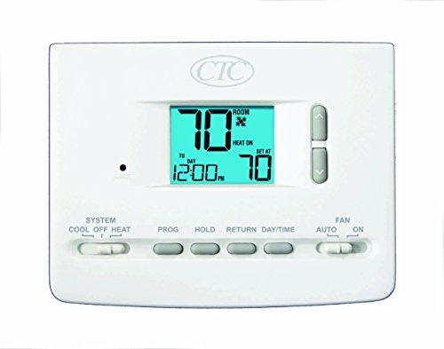 CTC 61152P Wall Thermostat, 1 Heat/1 Cool, 5/2 Day Programma