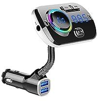 FMトランスミッター Bluetooth5.0 シガーソケット Mp3プレーヤー ...