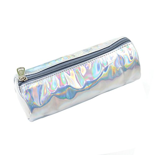 We-buys Hologram Pencil case Stationery Pen Holder Small Cosmetic Bag Crayon Box