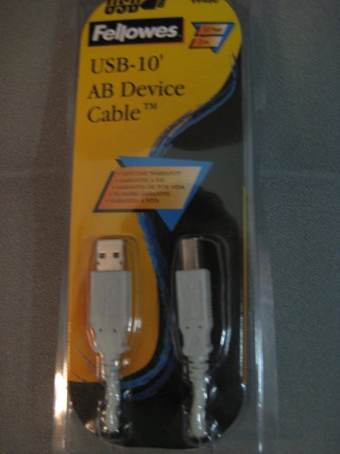 Fellowes - USB cable - 4 pin USB Type A (M) - 4 pin USB Type B (M) - 10 ft ()