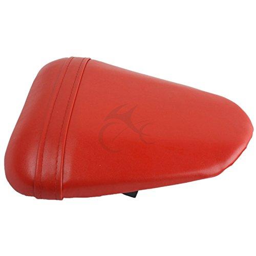 TengChang motocicleta Rojo Cuero trasera Amortiguar Grupera Piloto Asiento del Conductor Para Yamaha YZFR6 YZF-R6 2008 2009 2010 2011 2012 2013 2014 2015 2016 k6 k7