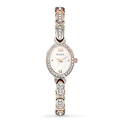 Bulova Women's 98L200XG Crystal Collection Rose Gold Quartz Bracelet Watch (Certified Refurbished)