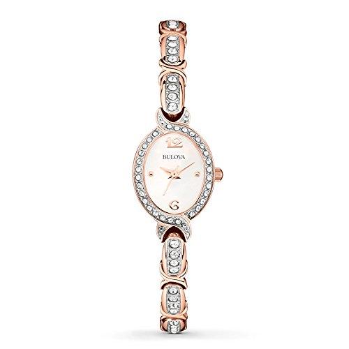 Bulova Women's 98L200XG Crystal Collection Rose Gold Quartz Bracelet Watch (Certified (Bulova Crystal Collection)