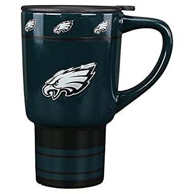 NFL Teams Full Color Logo Ceramic Travel Coffee Mug (Philadelphia Eagles)