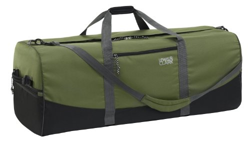 Lewis N Clark Uncharted 900D/Zipper Duffel Bag (Green, 18×40-Inch)