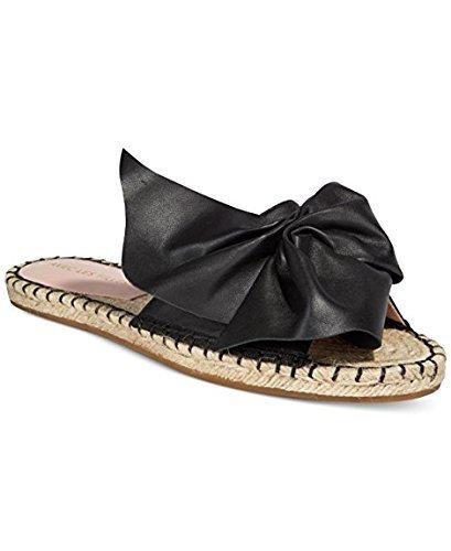 Avec Les Filles by Joyce Azria Gemma Espadrille Bow Slide (Black) Size 6.5