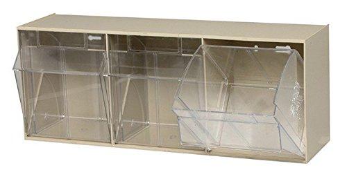 - Quantum Storage QTB303IV Clear Tip Out Bins, Ivory - 7.75 x 23.62 x 9.5 in.
