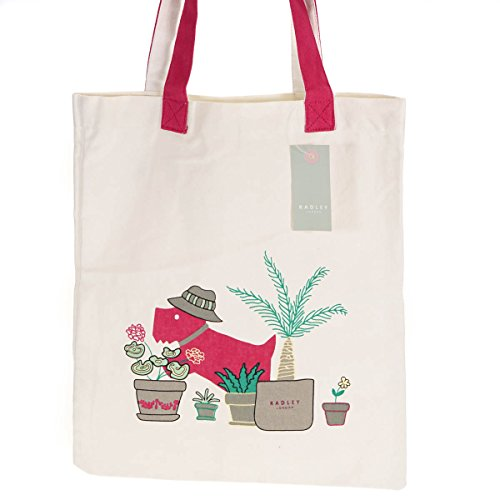 amp; Safari Tote On With Canvas Pink Shopper Radley Cream Shoulder Bag Design Dog wRzyqATT5W