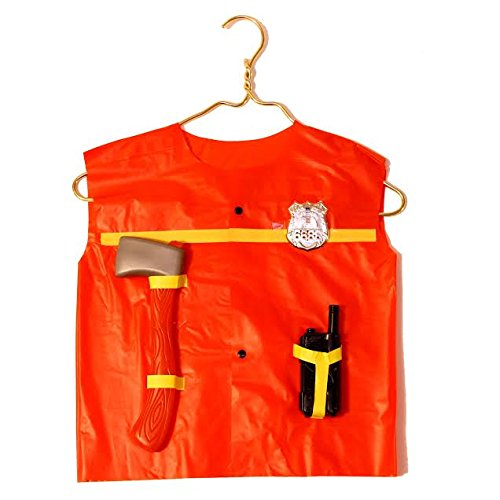 Cheap Fireman Costumes (Dazzling Toys Fire Chief Role Play Costume Set - Includes Some Pretend Fireman Tools-fireman's Axe, Handheld Radio. Contains Plastic Holders to Hold Tools on Vest.)