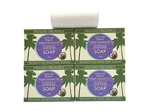 Organic Coconut Oil Soap Bar (Lavender, 3.5 oz x 4-pack)